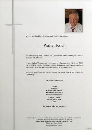 Portrait von Walter Koch