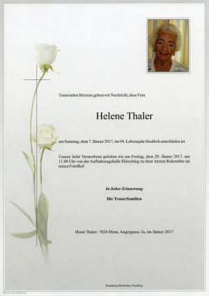 Portrait von Helene Thaler