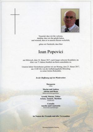 Portrait von Ioan Popovici