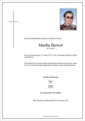 Portrait von Martha Berwel