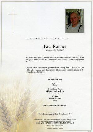 Portrait von Paul Roitner