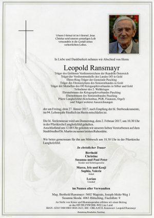 Portrait von Leopold Ransmayr