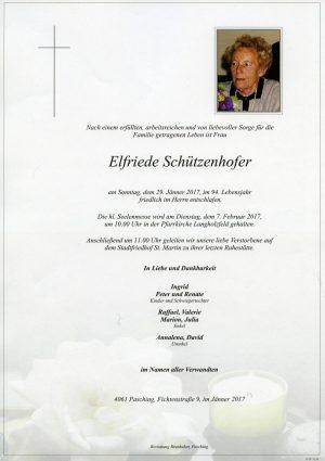 Portrait von Elfriede Schützenhofer