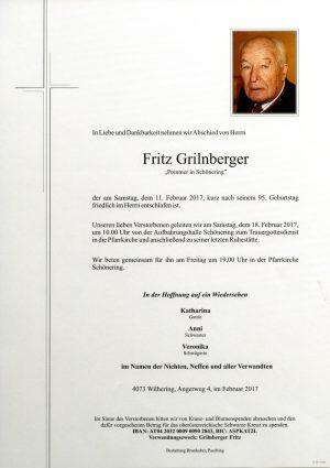 Portrait von Fritz Grilnberger