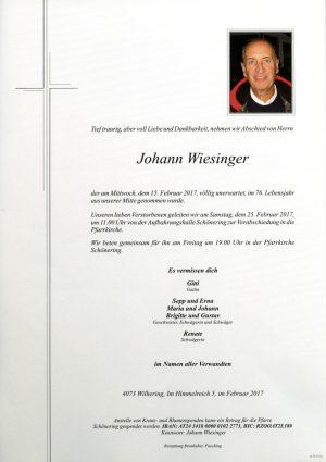 Portrait von Wiesinger Johann