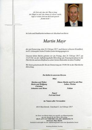 Portrait von Martin Mayr