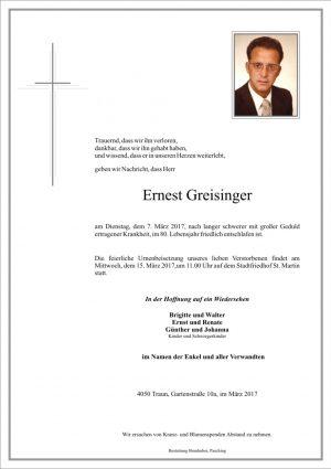 Portrait von Ernest Greisinger
