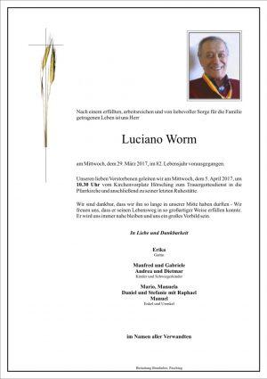 Portrait von Luciano Worm