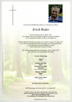 Portrait von Erich Reder