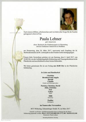 Portrait von Paula Lehner