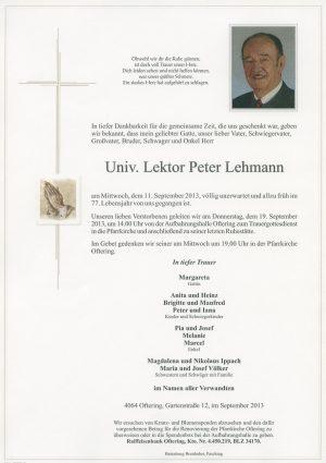 Portrait von Univ. Lektor Peter Lehmann