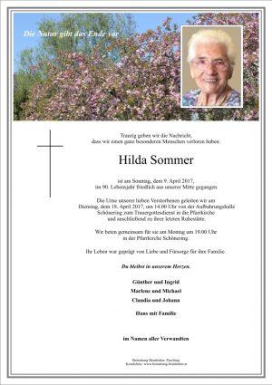 Portrait von Hilda Sommer