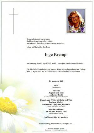Portrait von Inge Krempl