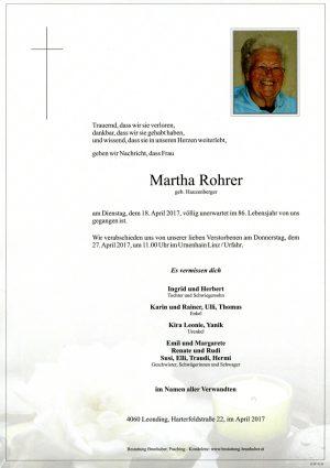 Portrait von Martha Rohrer
