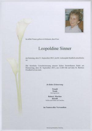 Portrait von Leopoldine Sinner