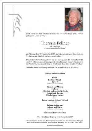 Portrait von Fellner Theresia