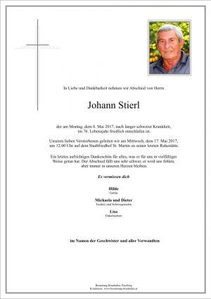 Portrait von Johann Stierl