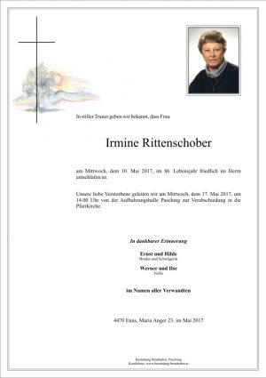 Portrait von Irmine Rittenschober