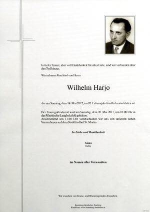 Portrait von Wilhelm Harjo