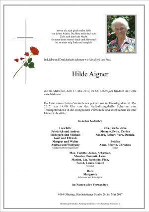 Portrait von Hilde Aigner