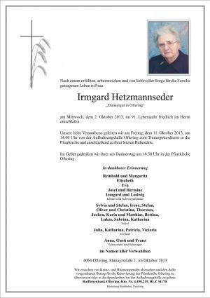 Portrait von Irmgard Hetzmannseder