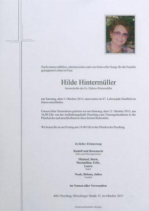 Portrait von Hilde Hintermüller