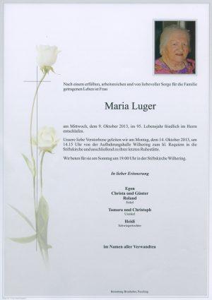 Portrait von Maria Luger