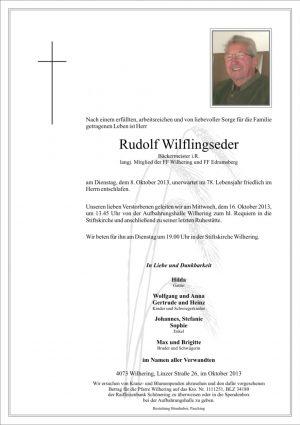 Portrait von Rudolf Wilflingseder