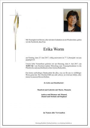 Portrait von Erika Worm