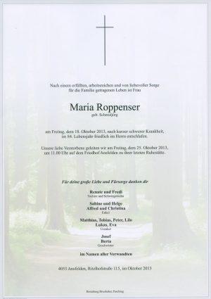 Portrait von Maria Roppenser