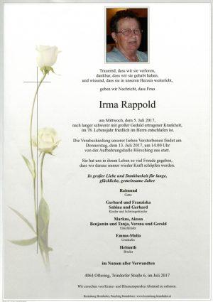 Portrait von Irma Rappold