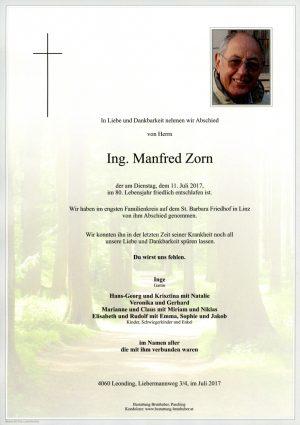 Portrait von Ing. Manfred Zorn