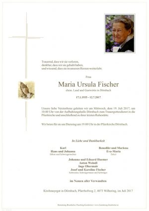 Portrait von Maria Ursula Fischer