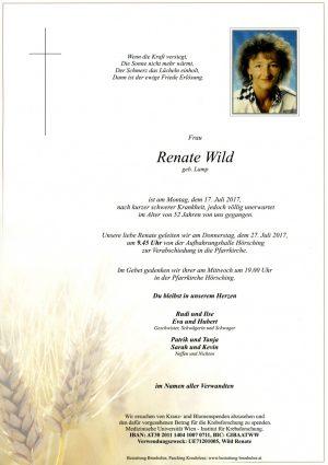 Portrait von Renate Wild