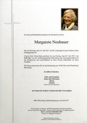 Portrait von Margarete Neubauer