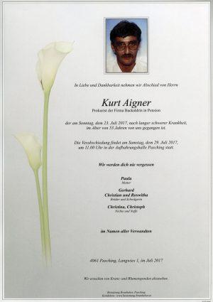 Portrait von Kurt Aigner