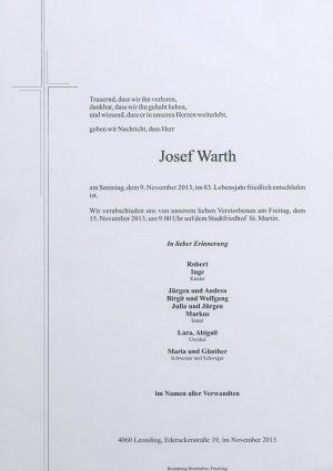 Portrait von Josef Warth