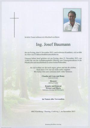 Portrait von Josef Baumann