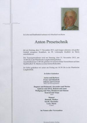 Portrait von Anton Presetschnik