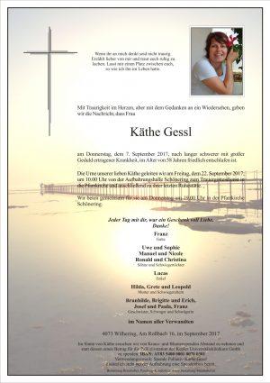 Portrait von Käthe Gessl