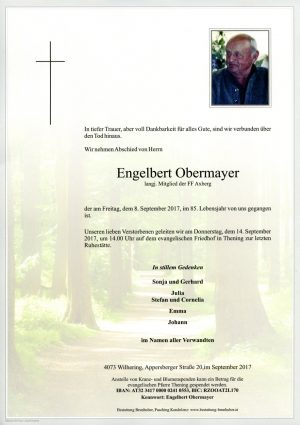 Portrait von Engelbert Obermayer