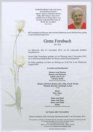 Portrait von Grete Fernbach