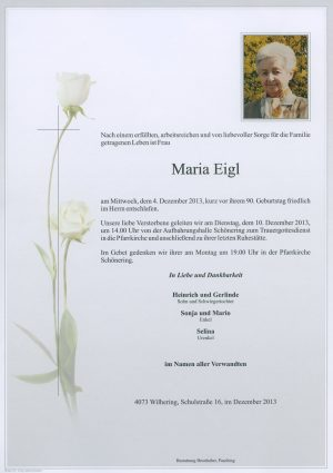 Portrait von Maria Eigl