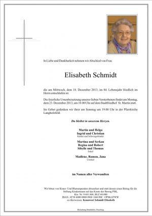 Portrait von Elisabeth Schmidt
