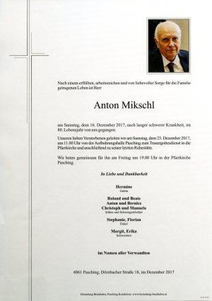 Portrait von Anton Mikschl