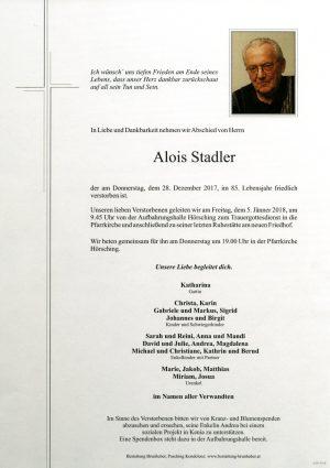 Portrait von Alois Stadler