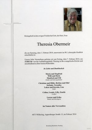 Portrait von Theresia Obermeir