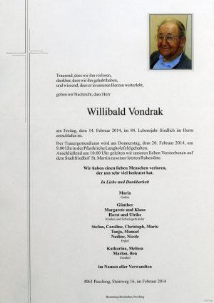Portrait von Willibald Vondrak