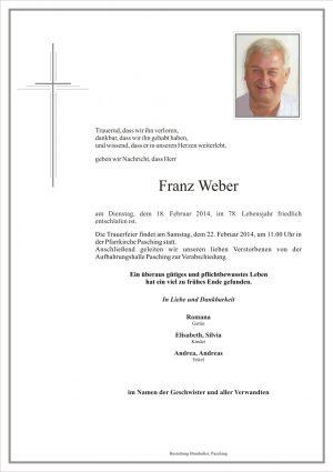 Portrait von Franz Weber