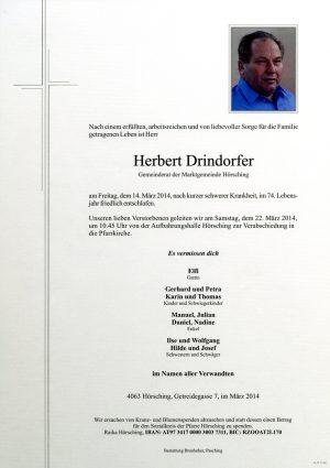 Portrait von Herbert Drindorfer